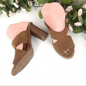 UGG brown cutout blocked heel sandals size 9 (#21)